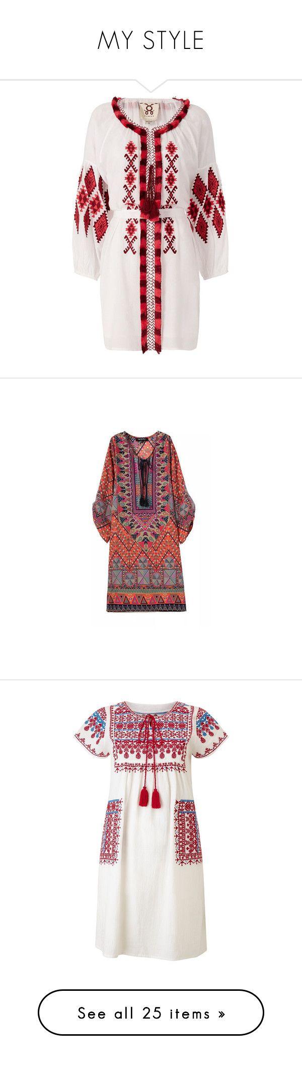 """MY STYLE"" by purplerose27 ❤ liked on Polyvore featuring dresses, tassel dress, boho style dresses, long sleeve boho dress, long sleeve bohemian dress, longsleeve dress, red, mini dress, chiffon dress and red print dress"