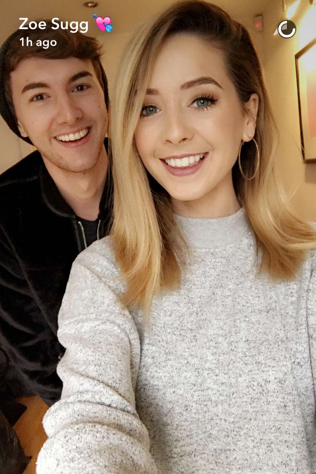 Zoe Sugg and Mark Ferris