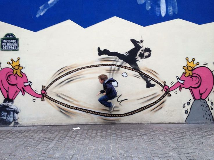 #StreetArt a #Parigi - Passage du moulin des Pres. (foto via Facebook Marie H Durantet). www.viviparigi.it