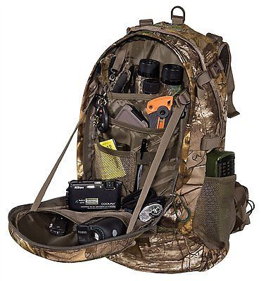 Hunting Backpack Bow Archery Rifle Hiking Camping Tactical Realtree Camo Bag   Sporting Goods, Hunting, Hunting Accessories   eBay!