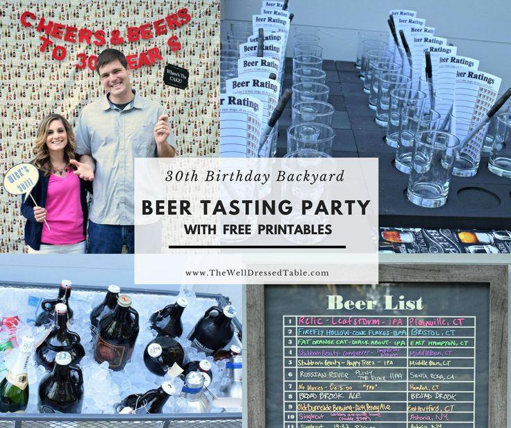 Beer Tasting Birthday Party | Free Beer Tasting Printable | Beer Tasting Party Ideas | Mens Birthday Ideas | Adult Party Idea | Adult Birthday
