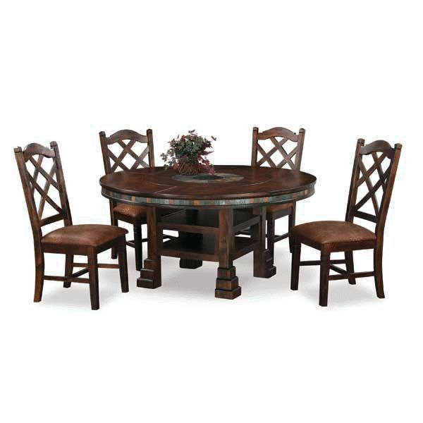 Santa fe 5 piece dining set sf 1225 5pc dining rooms by for American furniture warehouse tables