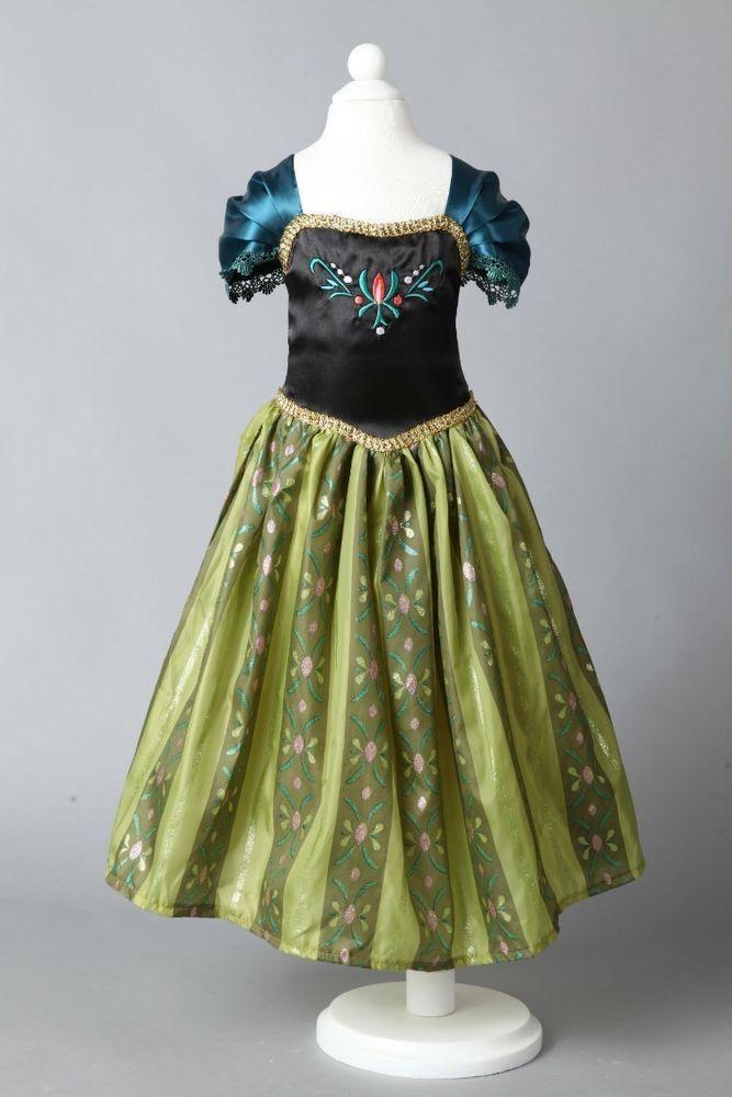 Cosplay Fasching Disney Damen Kostüm Anna Frozen Eiskönigin Prinzessin 36-44 in Kleidung & Accessoires, Kostüme & Verkleidungen, Kostüme | eBay!