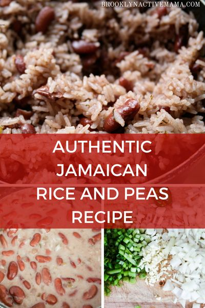 Delicious Authentic Jamaican Rice and Peas Recipe using coconut milk, allspice, thyme and so much more!