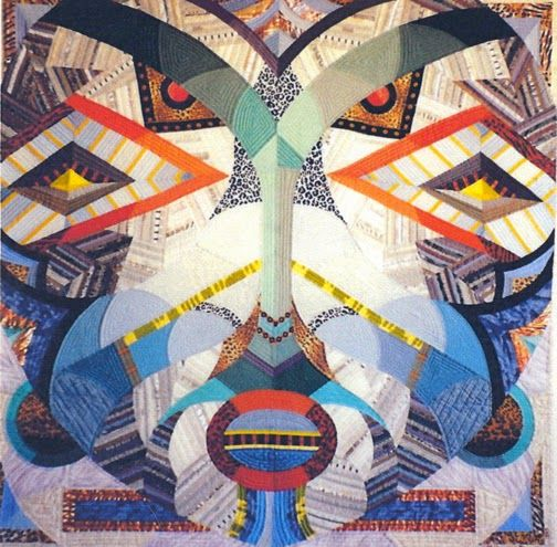 ZAIRE SONGE MASK II, by FRANCOISE BARNES Historically Modern: Quilts, Textiles & Design: Art Deco Thirty Years Ago