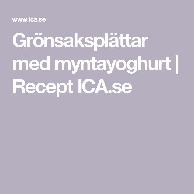 Grönsaksplättar med myntayoghurt | Recept ICA.se