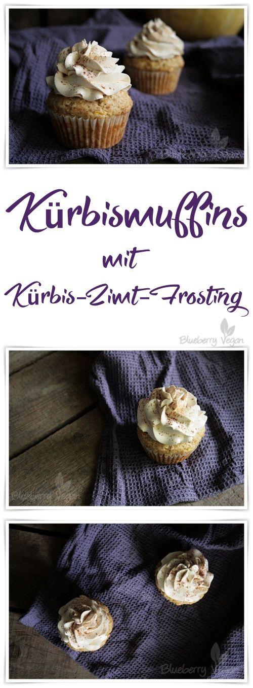 Kürbismuffins mit Buttercreme-Frosting vegan