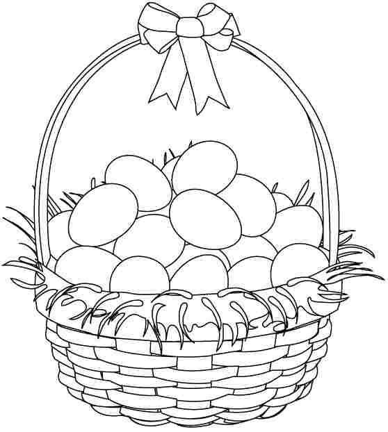 coloring the picture of printable easter basket coloring pages for kids boys is are a