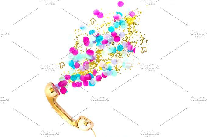 Rose Gold Phone Confetti | Styled  by Photos that POP! ♡  on @creativemarket Styled stock photos |