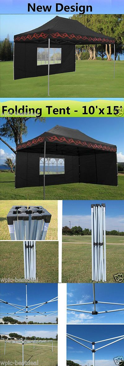 Awnings and Canopies 180992: 10 X 15 Pop Up Canopy Party Tent Gazebo Ez - Black Flame - E Model -> BUY IT NOW ONLY: $229.99 on eBay!