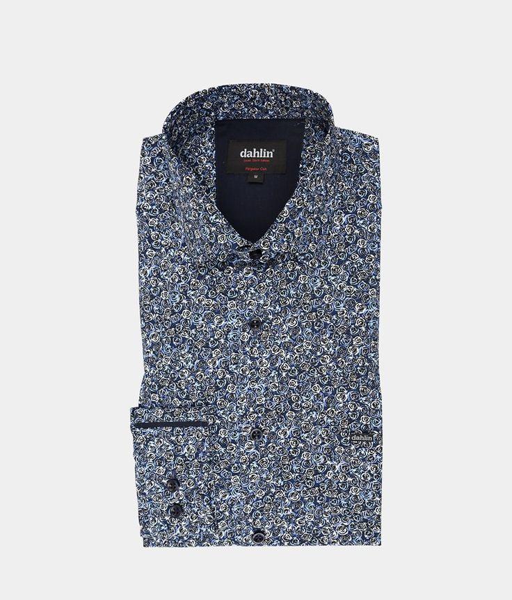 Blå rosenknopp skjorta