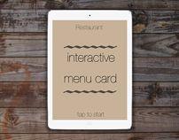 Interactive Menu card app ui/ux