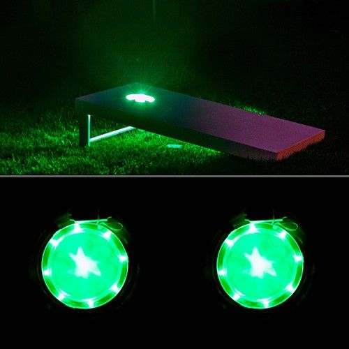 The very best Green cornhole lights available - Only from AllCornhole.com