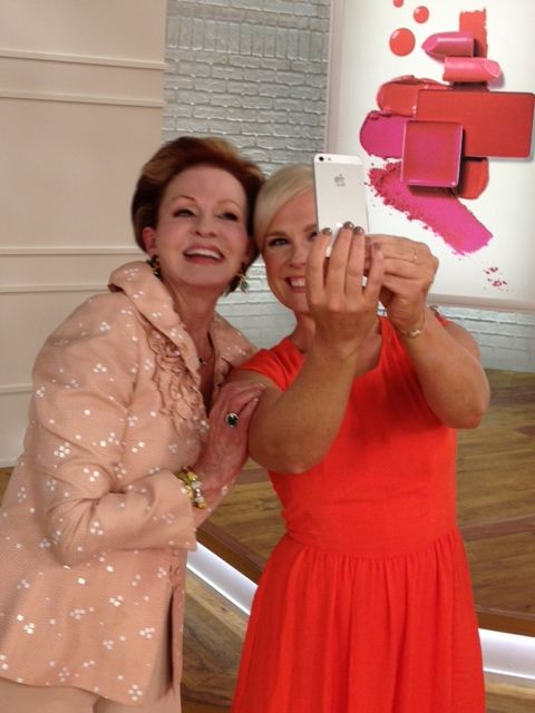 """Tova Borgnine  QVC On Air Guest Meghan Murray...""""How to take a #tovie!"""""""