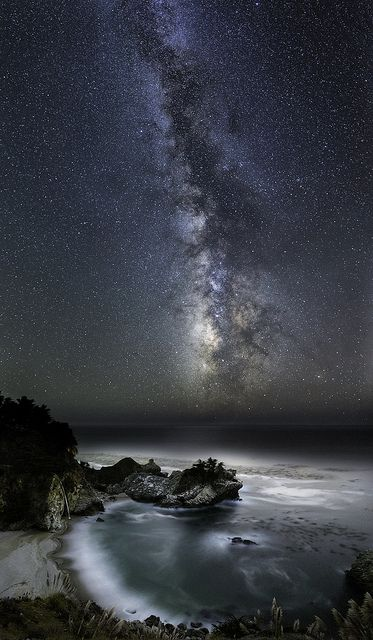 ~~McWay Cove Under the Milky Way ~ Big Sur, California by Bill Shupp~~