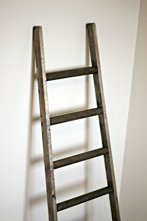 Ladder Vintage Rustic modern Blanket Ladder by linenandlaceshop  For my Home  Home Decor