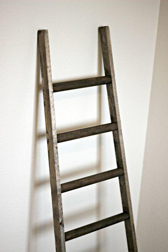 Ladder Vintage Rustic Modern Blanket Ladder By