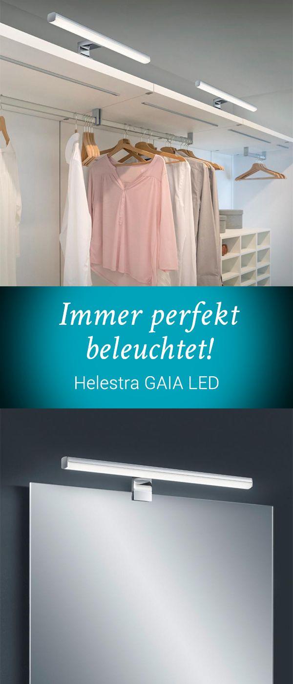 Helestra GAIA LED: Die elegante und puristische Leuchte ist ein echter Allrounder. Sie eignet sich sowohl zur Wand-, als auch zur Spiegel,- oder Möbelmontage. Zusätzlich verfügt die Leuchte über eine im Lieferumfang enthaltene Fernbedienung mit der Sie die Leuchte nicht nur bequem dimmen können, sondern auch die Farbtemperatur variieren können. Entscheiden Sie selber, ob Ihnen nach gemütlichem, warmweißen Licht ist oder Sie neutralweißes oder tageslichtweißes Licht bevorzugen. #reuterde…