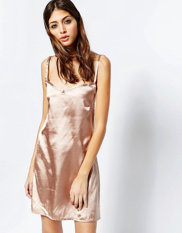 See You Never Rose Gold Slip Dress