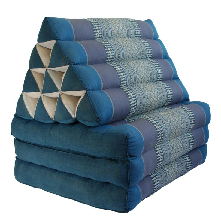 Traditional Thai Pillow : Thai Triangle Cushion Fold Out Day Bed Blue 160 x 50cm by Traditional Thai Triangle Pillows ...