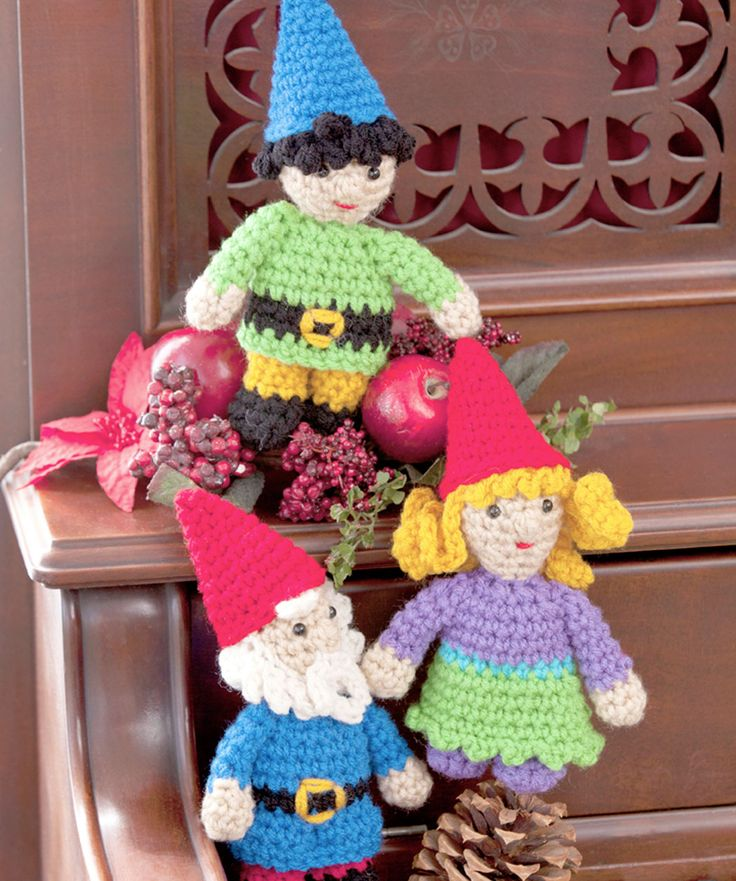 Free Amigurumi Gnome Pattern : Gnome Family crochet pattern. Someday if I ever time ...
