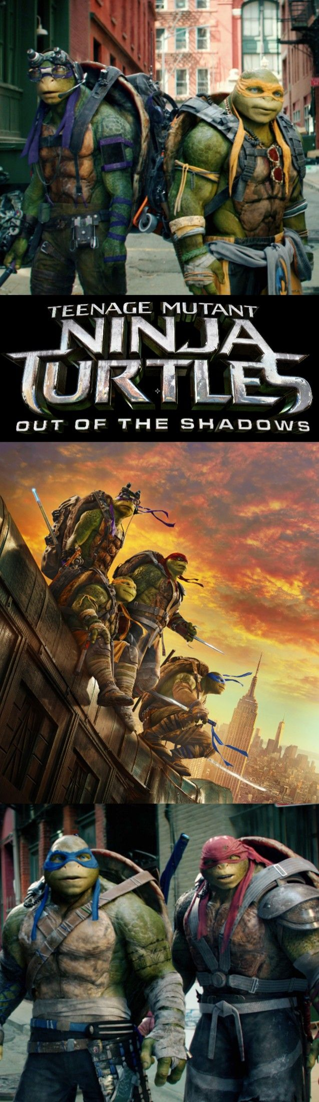 Your favorite turtles are back to save the day. See Teenage Mutant Ninja Turtles: Out of the Shadows, in theaters June 3, 2016.