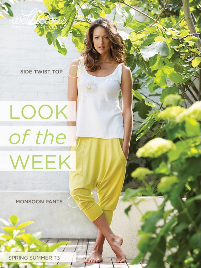 Check out the Wellicious look of the week! Get this beautiful summer look with our must have of this season, the Monsoon Pants!  Monsoon Pants > http://www.wellicious.com/wellicious-monsoon-pants.html Side Twist Top > http://www.wellicious.com/wellicious-side-twist-top.html
