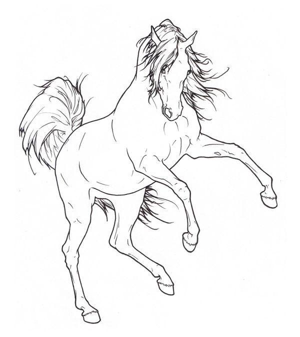 Arabian Rearing Lineart by ReQuay.deviantart.com on @deviantART