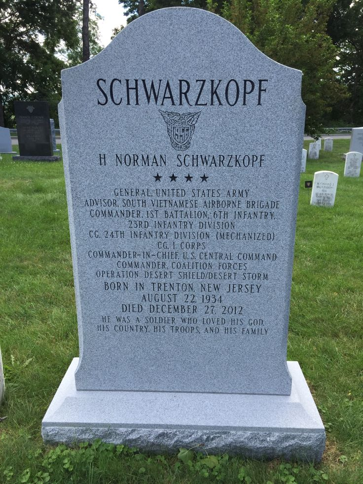 Gen Norman Schwarzkopf Jr In 2019 Famous Tombstones