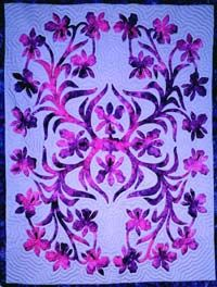 *Raintree of Hawaii: Orchid pattern - Orchid plants grow well in the cooler, moist uplands of Hawaii and vanda orchids c