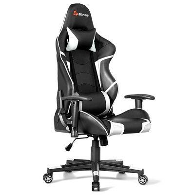 Ebern Designs Massage Reclining Pc And Racing Game Chair Color White Chair Color Designs Ebern Game Gaming Chair In 2020 Gaming Chair Racing Chair Racing Games