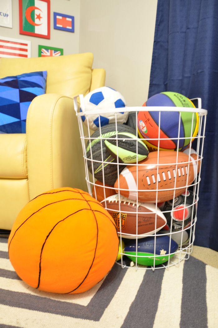 kids room ball storage basket