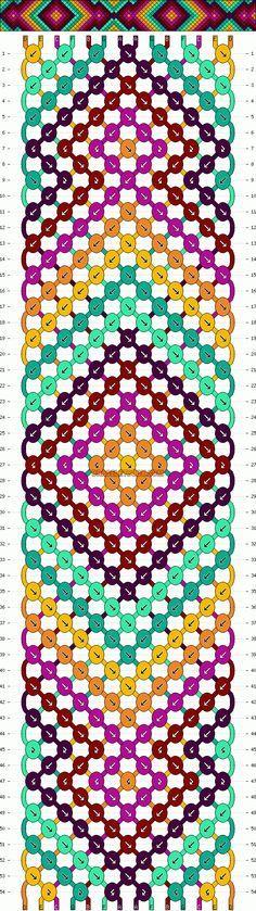 free wide friendship bracelet pattern | Patterns - Normal - Friendship Bracelet Pattern #7531