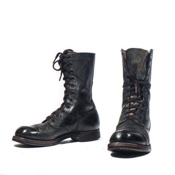 Bottes de Combat Vintage pour hommes Cap Toe militaires bottes taille 8 1/2 R de 1960 (Regular)