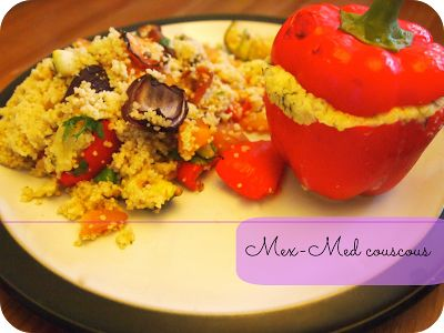 Mex-Med couscous or the time that everything we ate had a bit of couscous, pepper and courgette in it... | Knead Whine