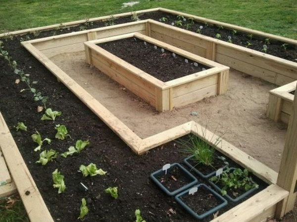 Elevated Garden Ideas this is a raised bed garden idea that gives you walking space to water all of Best 25 Box Garden Ideas On Pinterest Raised Gardens Raised Beds And Raised Garden Beds