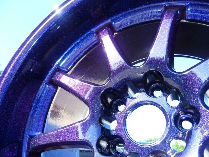Xavier's Work Rims, Purple Wheels, Custom, Powder Coated, Powder Coating, Prismatic Powders - Ink Black