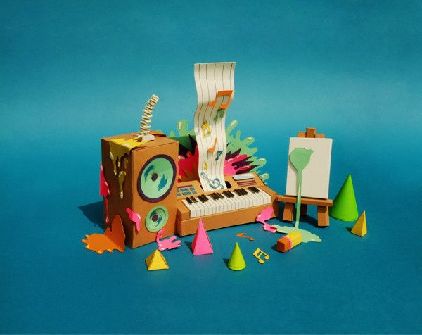 Teasers for Papercraft Campaign on Behance in Paper art