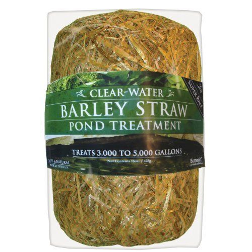 Summit 135 Clear-Water Barley Straw Bale, Treats up to 5000-Gallons by Summit Chemical Company. $19.99. Acts as a natural filter to keep your pond clean and clear. Clear your pond, fountain and fish tank naturally. The original and best selling barley straw pond treatmentfrom summit. Each bale treats up to 3000-5000 gallons. Keep your pond water clean and clear year-round. The original and best selling barley straw pond treatmentfrom Summit. Each bale treats up to 3000...