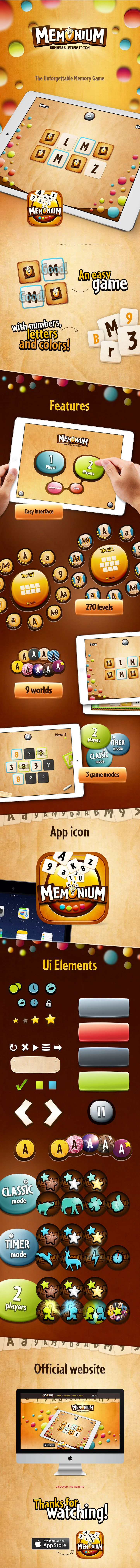 Memonium Game ipad