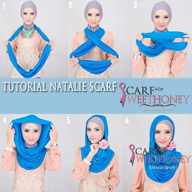 Easy way to wear a head covering using infinity scarf.  I wear it this same way!