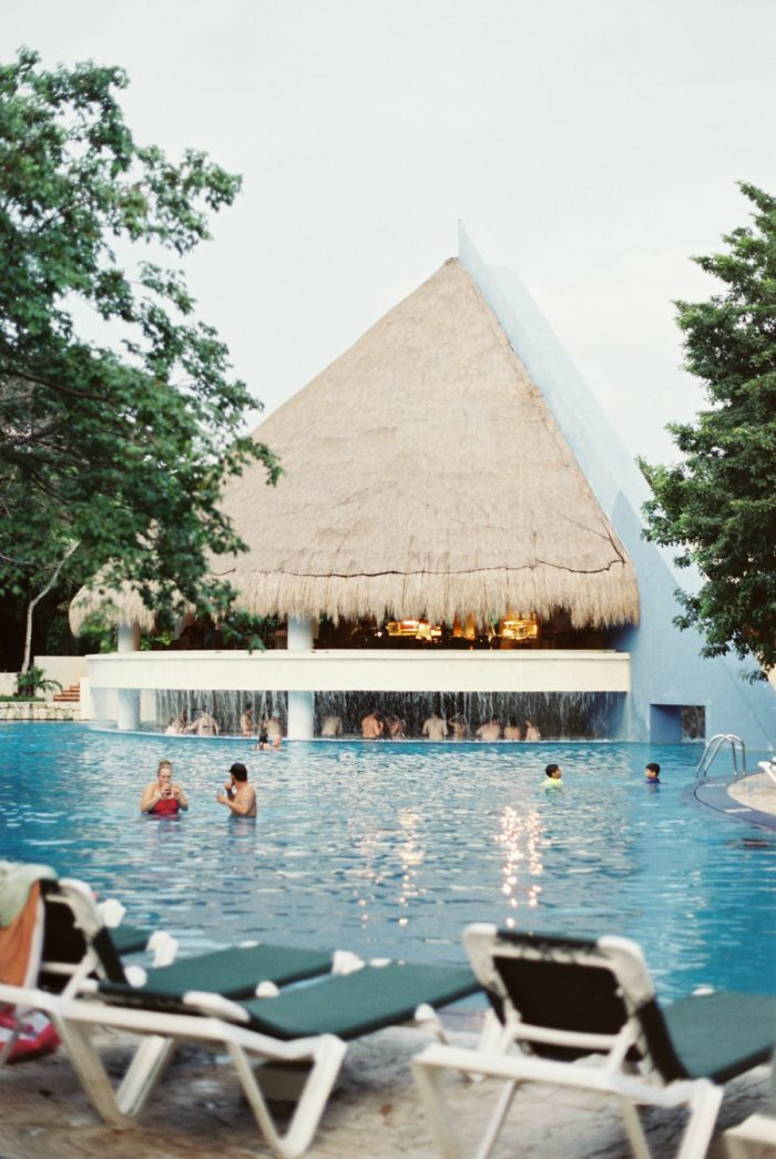 Poolside at the Occidental Grand Xcaret in Playa del Carmen Mexico