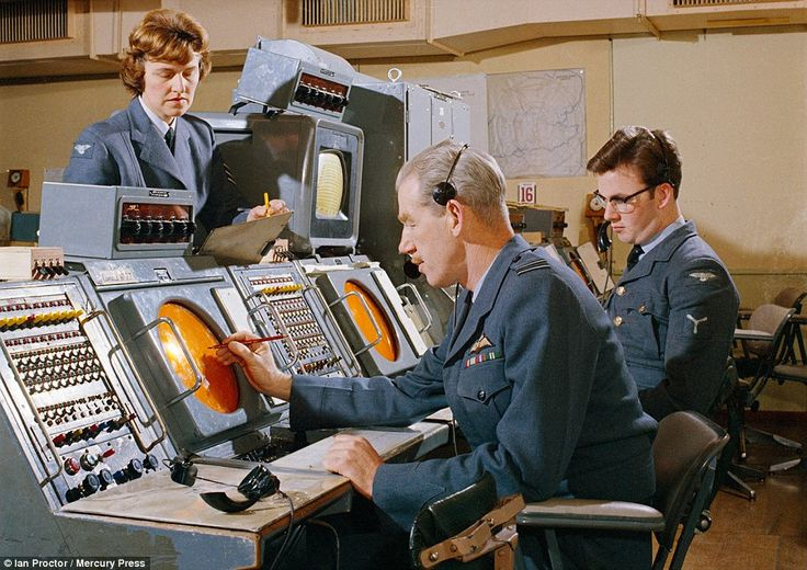 Colour photos: The images in the Imperial War Museum archives include this one of the radar room at RAF Sopley, Hampshire, in 1966