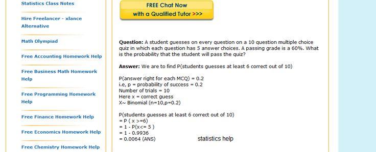 Statistics Help FREE*