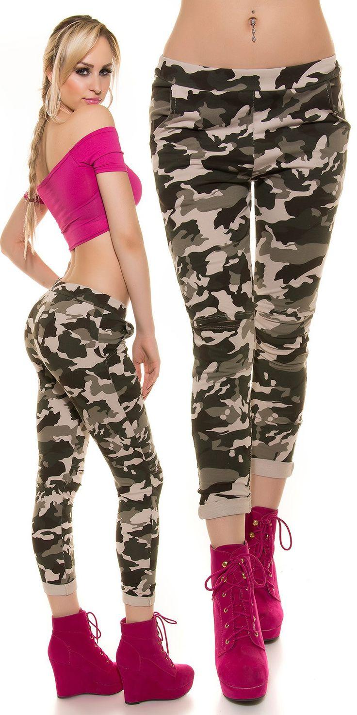 Pantaloni militari con taglio su ginocchio  Taglia unica s/m  https://www.lorcastyle.it