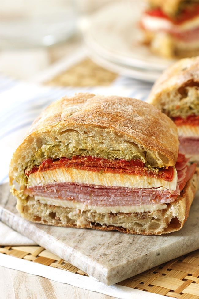 Packed picnic basket?  No worries, this sandwich is actually better when crushed under everything for hours.  And it's great for a crowd! | The Suburban Soapbox