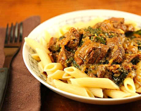Oven-Braised Beef Stew With Carrot, Parsnip, And Lancinato Kale Recipe ...