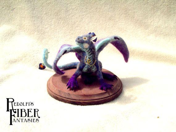 Kia'Lorae der Dragoness Filz Nadel Drachen handgefertigten von rart