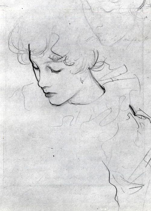 Polly Barnard or The Study for Carnation, Lily, Lily, Rose(ca. 1885) by John Singer Sargent