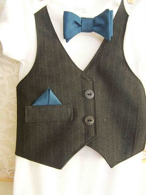 Made by Me. Shared with you.: Wedding Wear: Bow Tie and Vest Onesie